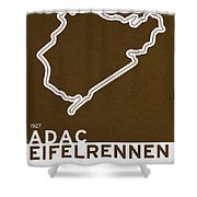 Legendary Races - 1927 Eifelrennen Shower Curtain by Chungkong Art