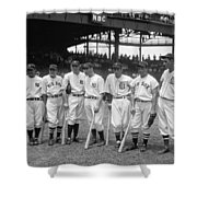 Legends Row Shower Curtain by Mountain Dreams