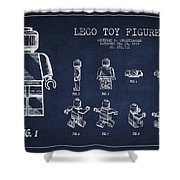 Lego Toy Figure Patent Drawing Shower Curtain by Aged Pixel