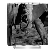 Legs Black And White Shower Curtain by Michelle Wrighton