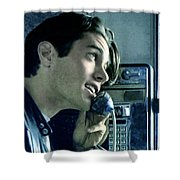 Leo Johnsone .. Are You Telling Me There's No Santa Claus Shower Curtain by Twin Peaks