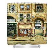 Les Rues De Paris Shower Curtain by Marilyn Dunlap