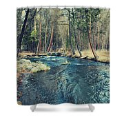Let It All Go Shower Curtain by Laurie Search