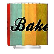 Let's Bake This Shower Curtain by Linda Woods