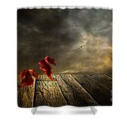 Lets Twist Again  Shower Curtain by Veikko Suikkanen