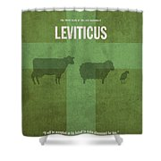 Leviticus Books Of The Bible Series Old Testament Minimal Poster Art Number 3 Shower Curtain by Design Turnpike