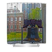 Liberty Bell Shower Curtain by Tom Gari Gallery-Three-Photography