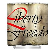 Liberty Freedom Shower Curtain by Daniel Hagerman