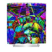 Liberty Head Abstract 20130618 square Shower Curtain by Wingsdomain Art and Photography