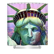 Liberty Head Painterly 20130618 Shower Curtain by Wingsdomain Art and Photography