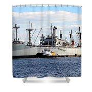 Liberty Ship  Shower Curtain by David Lee Thompson