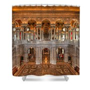 Library Of Congress Shower Curtain by Steve Gadomski