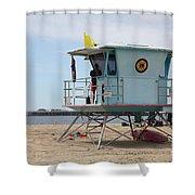 Lifeguard Shack At The Santa Cruz Beach Boardwalk California 5D23710 Shower Curtain by Wingsdomain Art and Photography