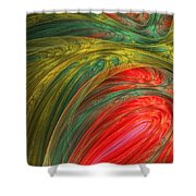 Life's Colors Shower Curtain by Lourry Legarde