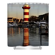 Light House At Harbour Town Shower Curtain by Dan Friend