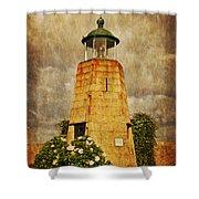 Lighthouse - La Coruna Shower Curtain by Mary Machare