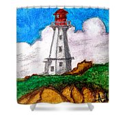 Lighthouse Nova Scotia Shower Curtain by Anita Lewis