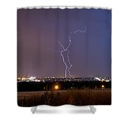 Lightning Composite 1 Shower Curtain by Benjamin Reed