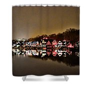 Lights On The Schuylkill River Shower Curtain by Bill Cannon