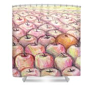 Like Apples And Oranges Shower Curtain by Shana Rowe Jackson