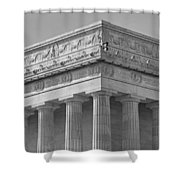 Lincoln Memorial Columns BW Shower Curtain by Susan Candelario