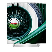 Lincoln Spare Tire Emblem Shower Curtain by Jill Reger