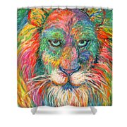 Lion Explosion Shower Curtain by Kendall Kessler