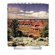 Lipan Point  Grand Canyon Shower Curtain by Bob and Nadine Johnston