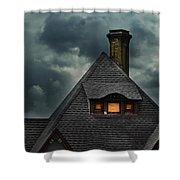 Lit Attic Window Shower Curtain by Jill Battaglia