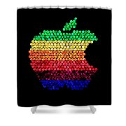 Lite Brite Macintosh Shower Curtain by Benjamin Yeager