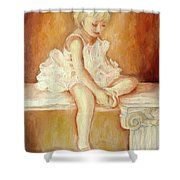 Little Ballerina Shower Curtain by Carole Spandau