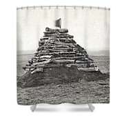Little Bighorn Monument Shower Curtain by Granger