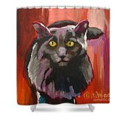 Little Darling Knows Shower Curtain by Katrina West