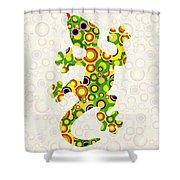 Little Lizard - Animal Art Shower Curtain by Anastasiya Malakhova