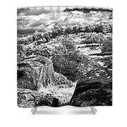 Little Roundtop Overlooking Devils Den Shower Curtain by Paul W Faust -  Impressions of Light
