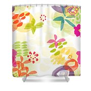 Little Watercolor Garden Shower Curtain by Linda Woods
