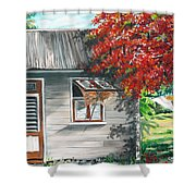 Little West Indian House 1 Shower Curtain by Karin  Dawn Kelshall- Best