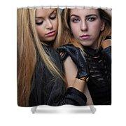 Liuda And Coral 1 Shower Curtain by Yhun Suarez