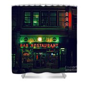 Live Bait Shower Curtain by Andrew Paranavitana