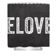 Live Love Eat Shower Curtain by Linda Woods
