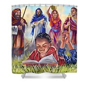 Living Bible Shower Curtain by Tamer and Cindy Elsharouni