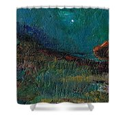 Living On The Edge Shower Curtain by Frances Marino