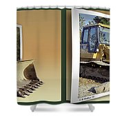 Loader - Cross Your Eyes And Focus On The Middle Image Shower Curtain by Brian Wallace