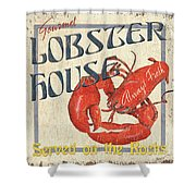 Lobster House Shower Curtain by Debbie DeWitt