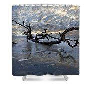 Loch Ness Shower Curtain by Debra and Dave Vanderlaan