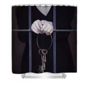Locked-in Shower Curtain by Joana Kruse