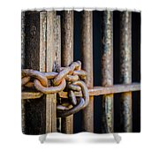 Locked Out Shower Curtain by Carolyn Marshall