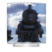 Locomotive 5030 Type 4 6 4 Composite View Shower Curtain by Thomas Woolworth