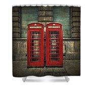 London Calling Shower Curtain by Evelina Kremsdorf