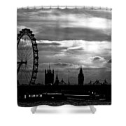 London Silhouette Shower Curtain by Jorge Maia